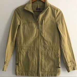 UNTUCKit Olive green cinch waist utility jacket S
